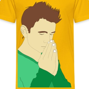Praying Man Portrait - Kids' Premium T-Shirt
