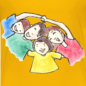 Charcoal And Watercolor Family - Kids' Premium T-Shirt