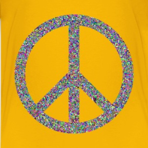 Prismatic Psychedelic Confetti Peace Sign - Kids' Premium T-Shirt