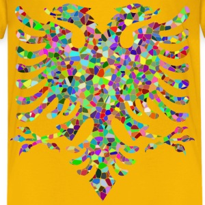 Prismatic Tiled Double Headed Eagle - Kids' Premium T-Shirt