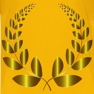 Gold Laurel Wreath 3 No Background - Kids' Premium T-Shirt
