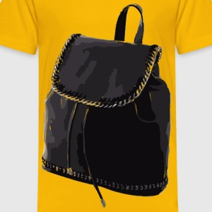 Black Leather Backpack without logo - Kids' Premium T-Shirt