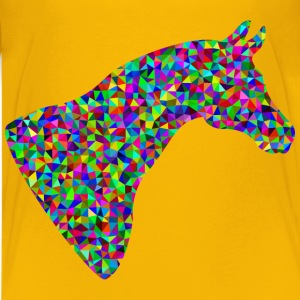 Prismatic Low Poly Horse Head - Kids' Premium T-Shirt