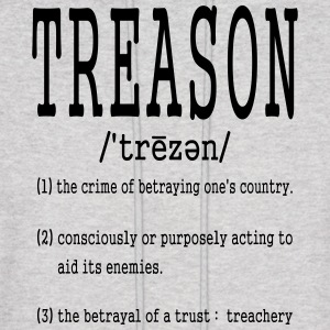 treason definition shirts Hoodies - Men's Hoodie