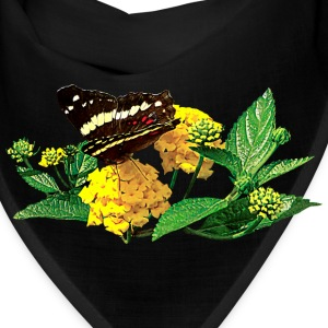 Butterfly on Yellow Lantana Caps - Bandana