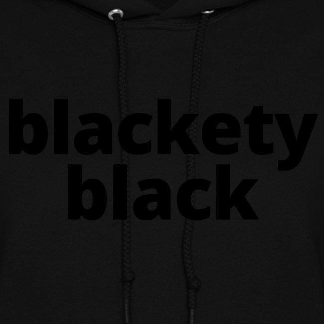 "Women's ""Blackety Black"" Lightweight Hoodie (black)"