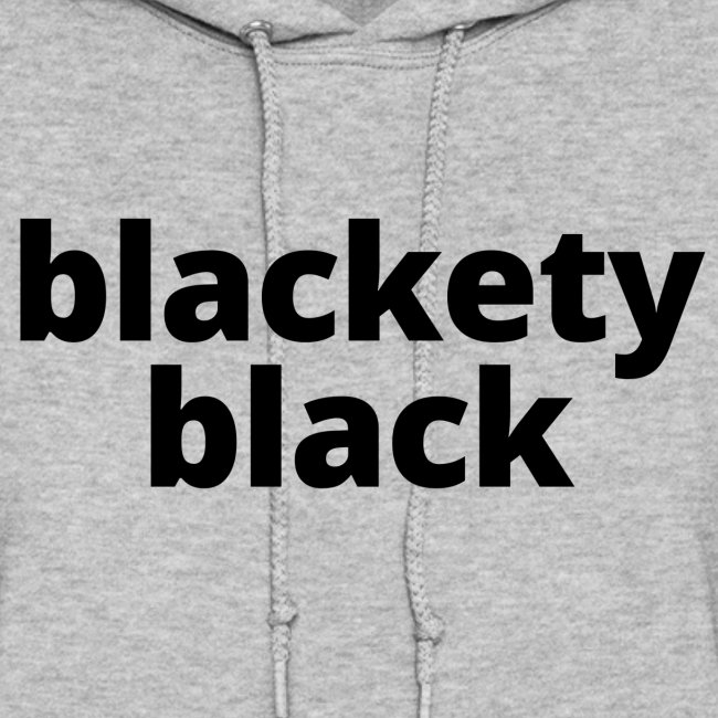 "Women's ""Blackety Black"" Lightweight Hoodie (black)"