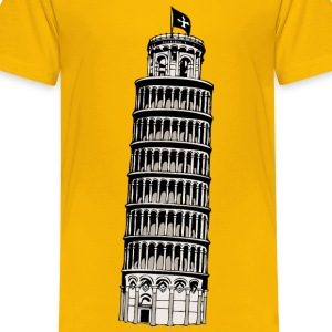 leaning tower of pisa - Kids' Premium T-Shirt