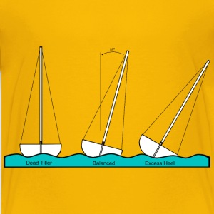 Sailing Heeling Illustrations - Kids' Premium T-Shirt