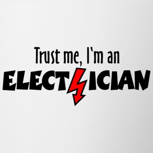 Trust me, I'm an electrician Mugs & Drinkware - Coffee/Tea Mug