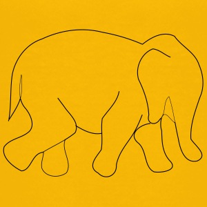 elephant outline - Kids' Premium T-Shirt