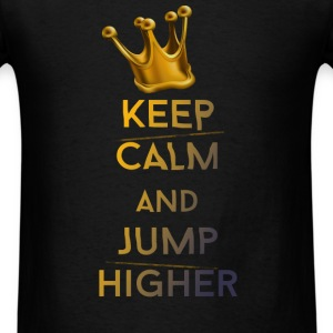 Parkour - Keep calm and jump higher - Men's T-Shirt