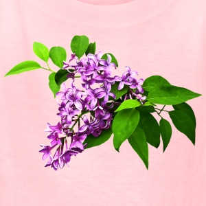 Lilacs and Leaves Kids' Shirts - Kids' T-Shirt