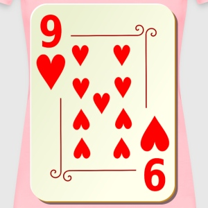 Ornamental deck: 9 of hearts - Women's Premium T-Shirt