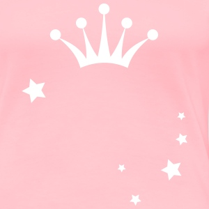 Prinzess Crown with Stars T-shirts - T-shirt premium pour femmes