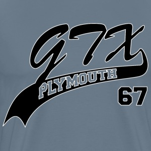 67 GTX - White Outline - Men's Premium T-Shirt
