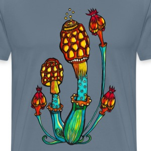 Magic mushrooms, Psychedelic, Magic, Trance, Goa,  - Men's Premium T-Shirt