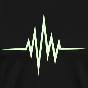 Pulse Heartbeat, Glow in the Dark Music Heart Rate - Men's Premium T-Shirt