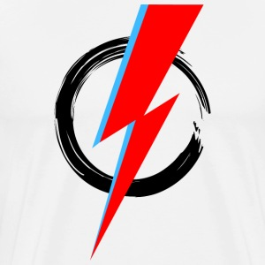 Bowie Flash, Hero, Music, Blackstar, Rebel, Space  - Men's Premium T-Shirt