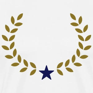 Champion Wreath, Star, Winner, Team, Number One  - Men's Premium T-Shirt
