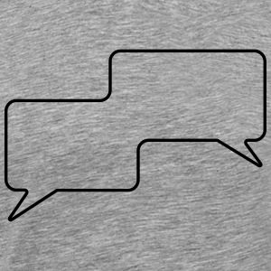 Speech Bubble, Balloon Comic Book Style, Your Text - Men's Premium T-Shirt