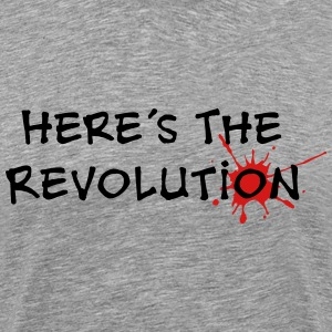 Revolution, Politics, Music, Star, Bloodstain,   - Men's Premium T-Shirt
