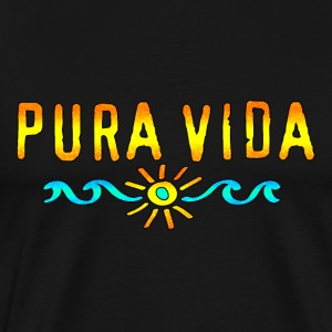 Pura Vida, Costa Rica, Surfing, Beach, Holidays,   - Men's Premium T-Shirt