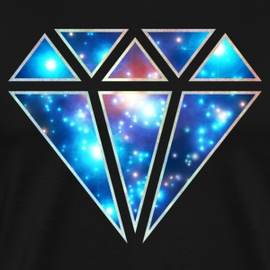 Diamond, galaxy style, cosmic, space, infinity,  - Men's Premium T-Shirt