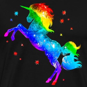 Unicorn rainbow, galaxy, space, cosmic, horse, gay - Men's Premium T-Shirt
