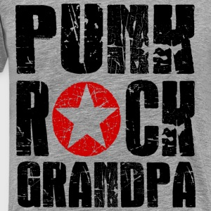 Punk Rock Grandpa T-Shirts - Men's Premium T-Shirt