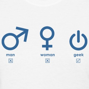 Man, woman, geek (blue) T-Shirts - Women's T-Shirt