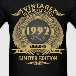 Vintage Perfectly Aged 1992 Limited Edition T-Shirts - Men's T-Shirt