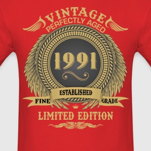 Vintage Perfectly Aged 1991 Limited Edition T-Shirts - Men's T-Shirt