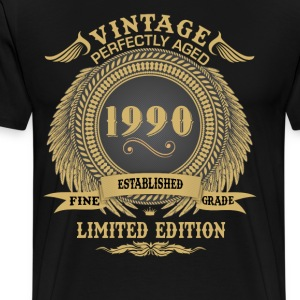 Vintage Perfectly Aged 1990 Limited Edition T-Shirts - Men's Premium T-Shirt