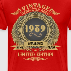 Vintage Perfectly Aged 1989 Limited Edition T-Shirts - Men's Premium T-Shirt