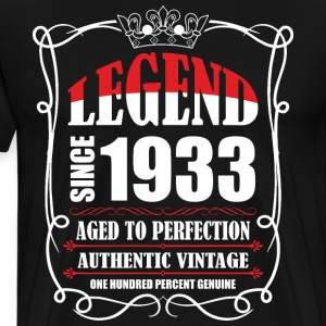 Legend since 1933 Aged to Perfection Authentic Vin T-Shirts - Men's Premium T-Shirt