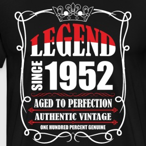 Legend since 1952 Aged to Perfection Authentic Vin T-Shirts - Men's Premium T-Shirt
