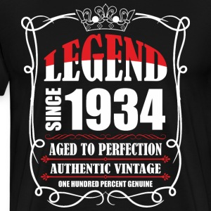 Legend since 1934 Aged to Perfection Authentic Vin T-Shirts - Men's Premium T-Shirt
