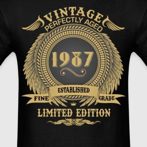 Vintage Perfectly Aged 1987 Limited Edition T-Shirts - Men's T-Shirt