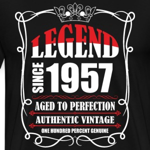 Legend since 1957 Aged to Perfection Authentic Vin T-Shirts - Men's Premium T-Shirt