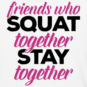 Friends Who Squat Gym Quote T-Shirts - Baseball T-Shirt