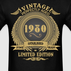 Vintage Perfectly Aged 1980 Limited Edition T-Shirts - Men's T-Shirt