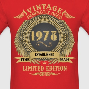 Vintage Perfectly Aged 1978 Limited Edition T-Shirts - Men's T-Shirt