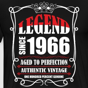 Legend since 1966 Aged to Perfection Authentic Vin T-Shirts - Men's Premium T-Shirt