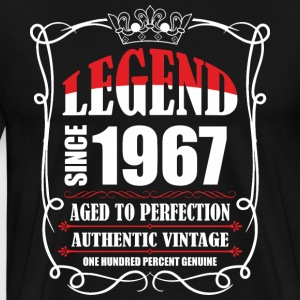 Legend since 1967 Aged to Perfection Authentic Vin T-Shirts - Men's Premium T-Shirt