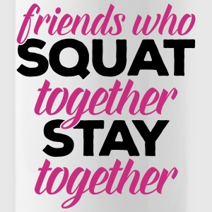 Friends Who Squat Gym Quote Sportswear - Water Bottle