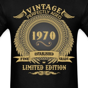 Vintage Perfectly Aged 1970 Limited Edition T-Shirts - Men's T-Shirt