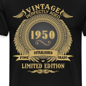Vintage Perfectly Aged 1950 Limited Edition T-Shirts - Men's Premium T-Shirt