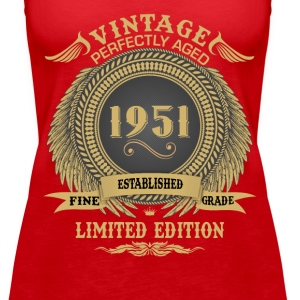 Vintage Perfectly Aged 1951 Limited Edition Tanks - Women's Premium Tank Top