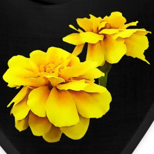 Two Yellow Marigolds Caps - Bandana